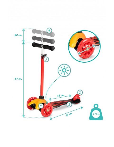 QKIDS AMIS hulajnoga 3koła ze światełkami LED - pomarańczowa
