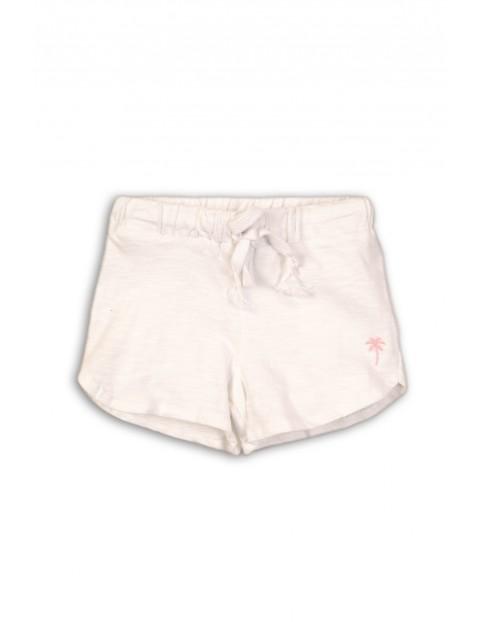 Spodenki dla niemowlaka- białe z cienkiej bawełny