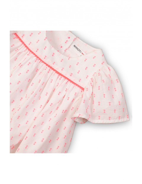 Biało-różowa bluzka dziewczęca