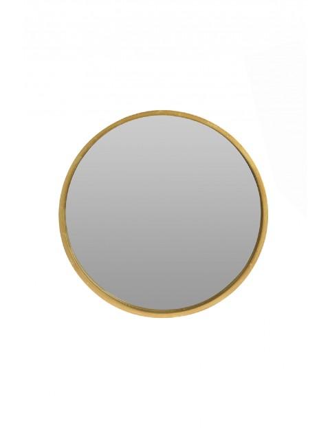 Lustro okrągłe złote 30cm