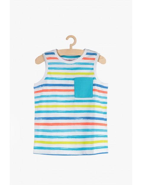 Bluzka chłopięca w kolorowe paski