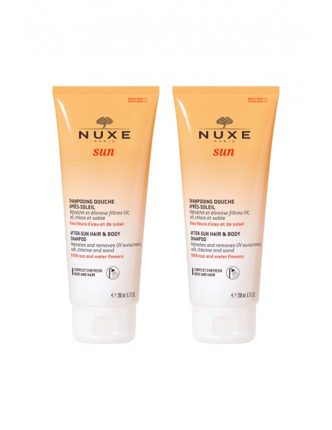 NUXE Sun Żel pod prysznic po opalaniu do ciała i włosów 2x200 ml