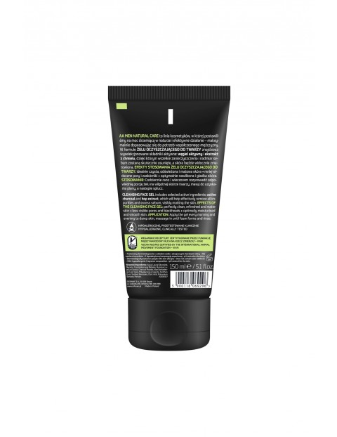 AA Men Natural Care żel do mycia twarzy 150 ml