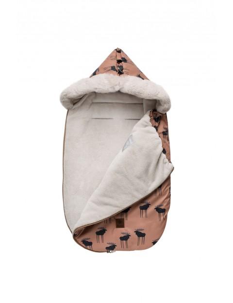 Śpiworek niemowlęcy - brązowy w Łosie