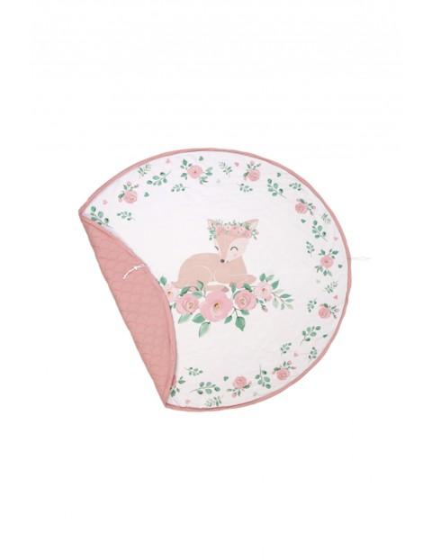 Bawełniana mata do zabawy w kolorze rózowym - 150x150 xm