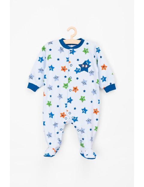 Bawełniany pajac w gwiazdki dla niemowlaka
