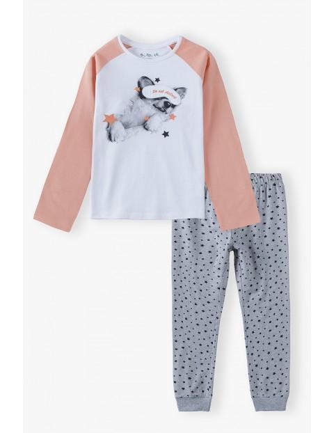 Bawełniana piżama bawełniana dla dziewczynki