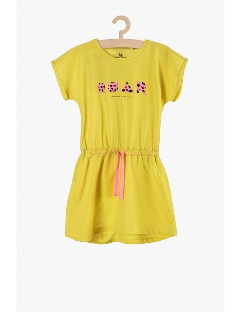 """Sukienka na lato dla dziewczynki żółta """"Roar"""""""