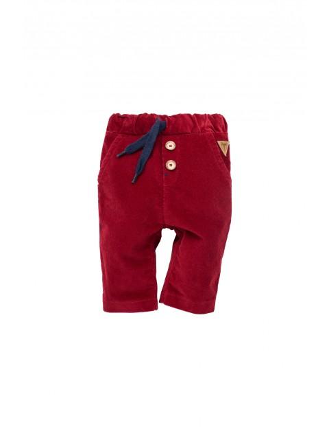 Spodnie niemowlęce Secret Forest bordowe
