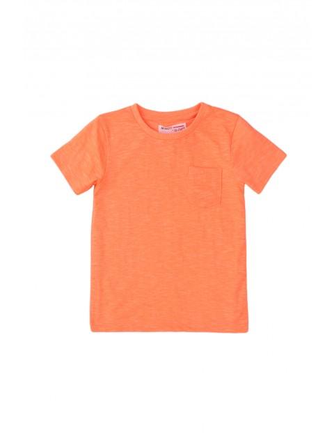T-shirt chłopięcy w kolorze pomarańczowym