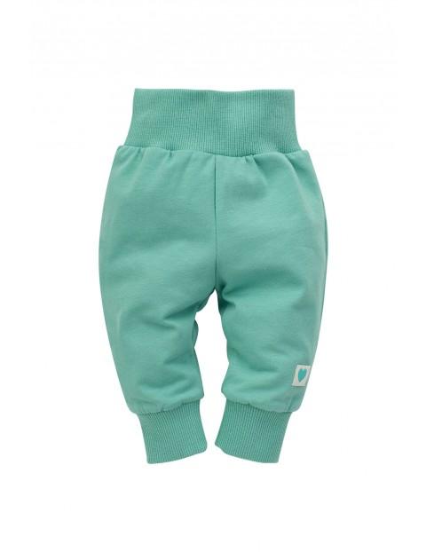Spodnie dresowe niemowlęce zielone