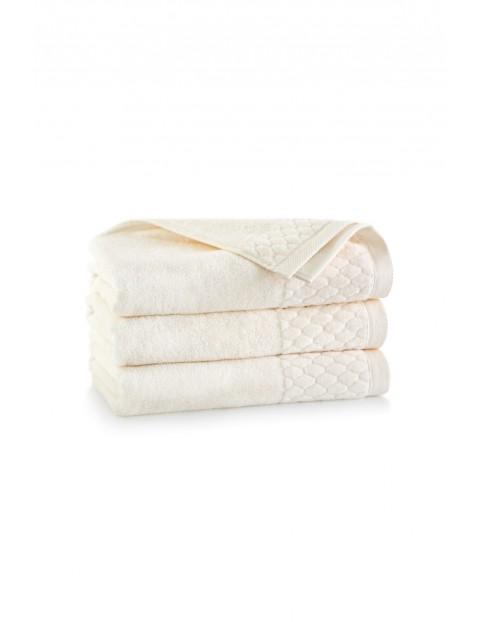 Ręcznik antybakteryjny Carlo z bawełny egipskiej kremowy - 50x100 cm