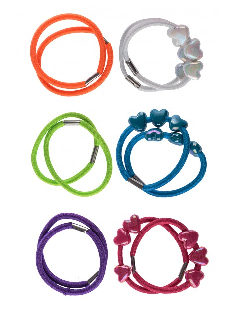 Zestaw kolorowych gumek do włosów 12szt