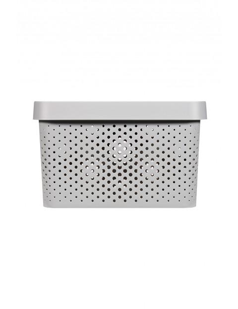 Pojemnik ażurowy INFINITY z przykrywką Curver beżowy dł. 36cm x szer. 27cm x wys. 22cm