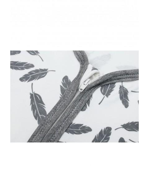Śpiworek Bambus Jersey - w piórka