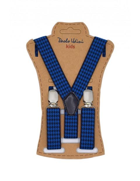 Szelki chłopięce do spodni 60 cm - niebieskie