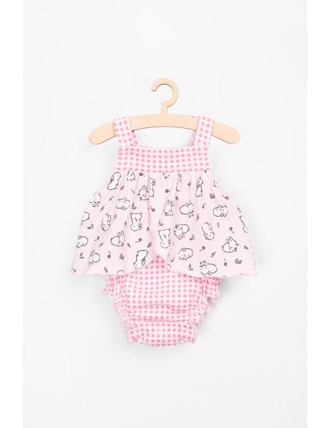 Body niemowlęce dla dziewczynki-różowe