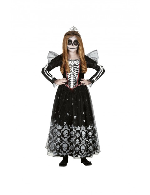 Strój karnawałowy dziewczęcy Księżniczka Szkieletor