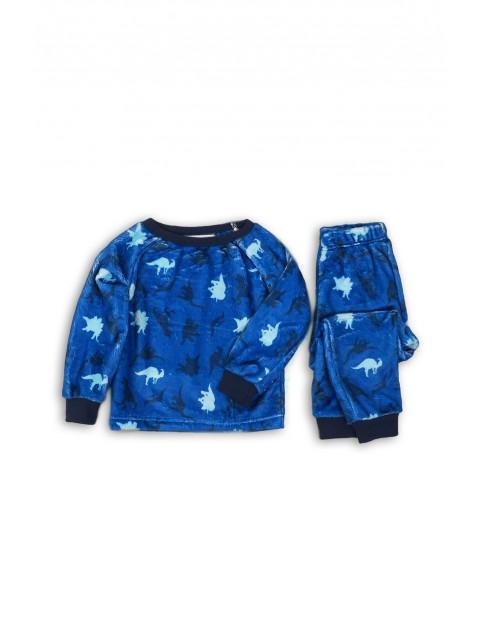 Piżama niemowlęca  w dinozaury - niebieska