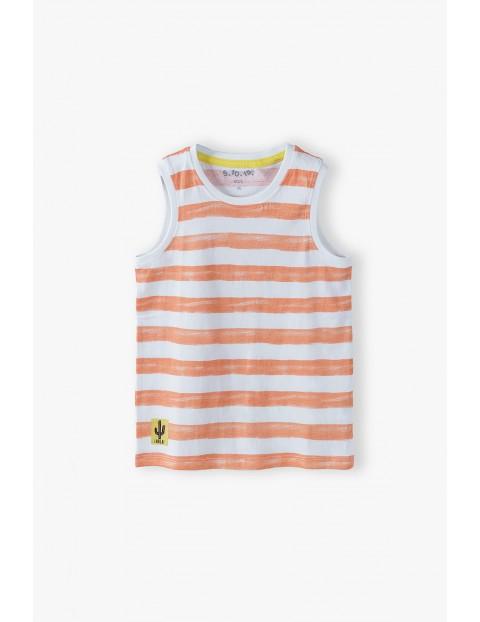 T-shirt chłopięcy dwukolorowy w paski