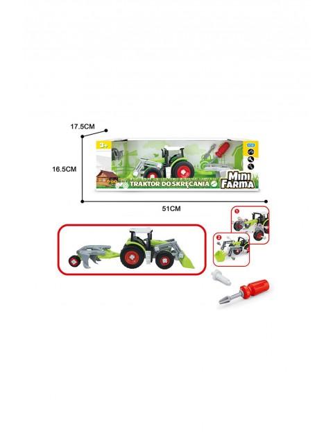 Mini farma traktor z przyczepą do skręcania wiek 3+