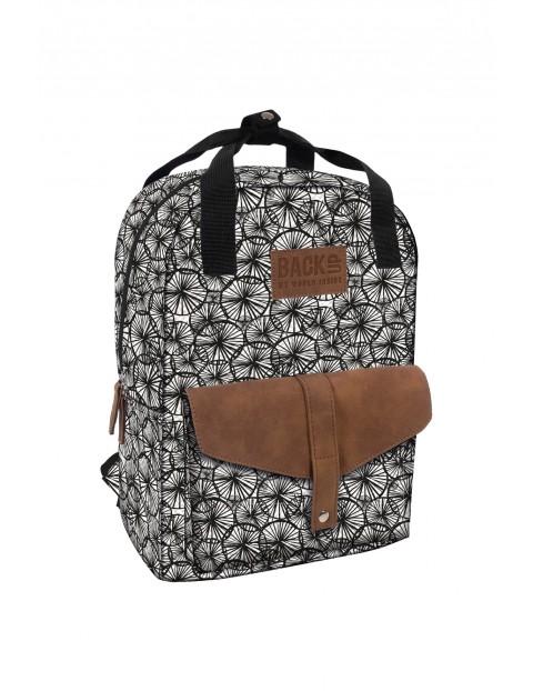 Plecak dziewczęcy czarno-biały BackUp