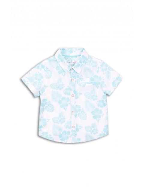 Koszula chłopięca w niebieskie kwiaty rozmiar 92/98