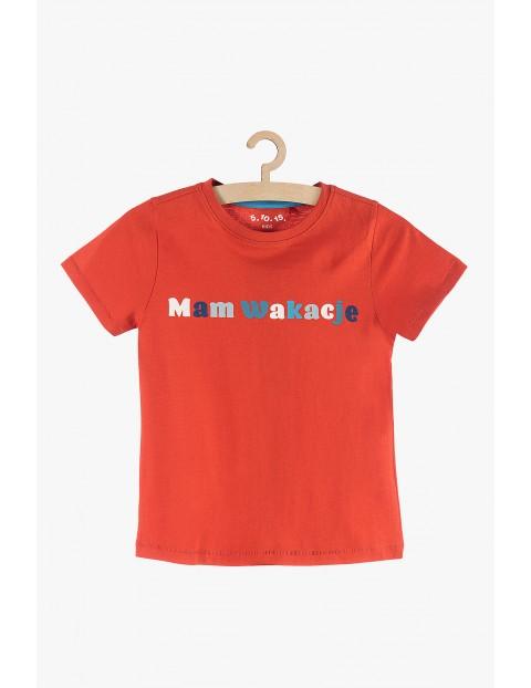 Koszulka chłopięca- Mam wakacje