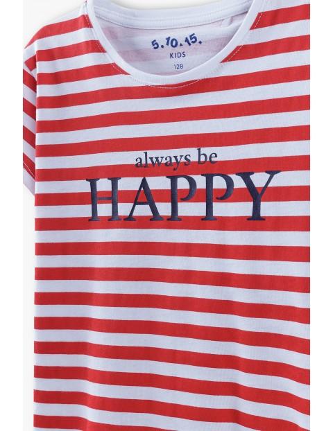 Bluzka dziewczęca z napisem always be Happy