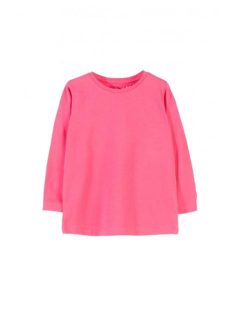 Bluzka z długim rękawem- różowy basic