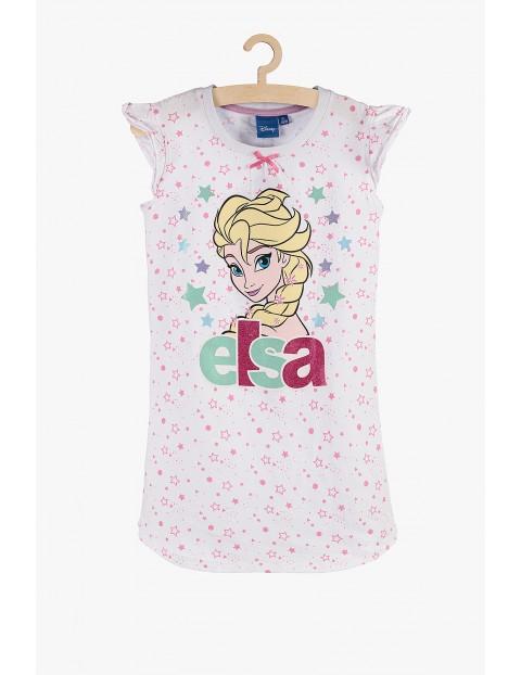 Koszula nocna Frozen Elsa - biała w gwiazdki