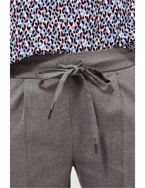 Spodnie damskie - szare