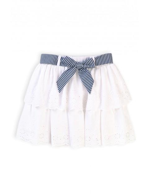 Bawełniana spódniczka dziewczęca z ozdobnymi falbankami