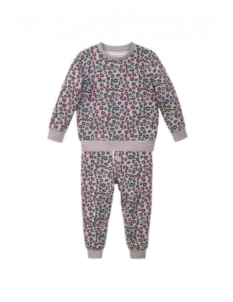 Komplet niemowlęcy bluza i spodnie - szary w panterkę