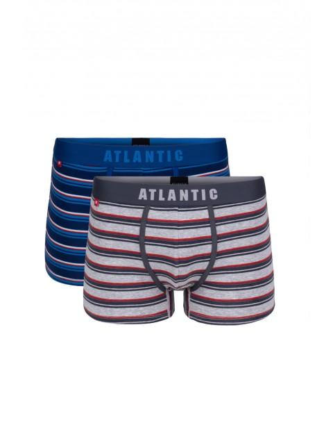 Bokserki męskie w paski Atlantic 2pak