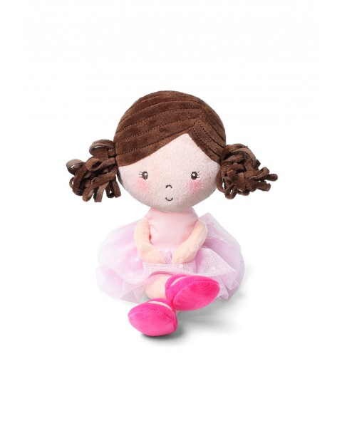 Przytulanka dla niemowląt Lalka Lena różowa
