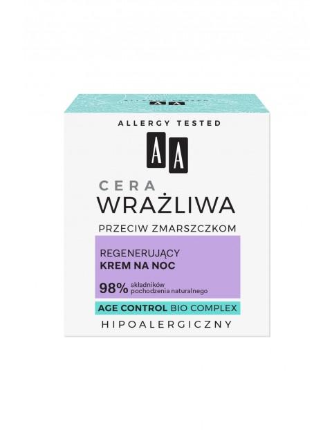 AA Cera wrażliwa przeciw zmarszczkom - regenerujący krem na noc - bezzapachowy 50 ml