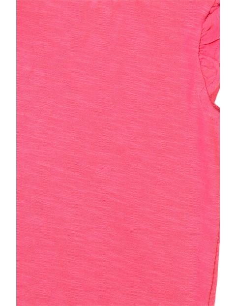 Bawełniana bluzka niemowlęca różowa