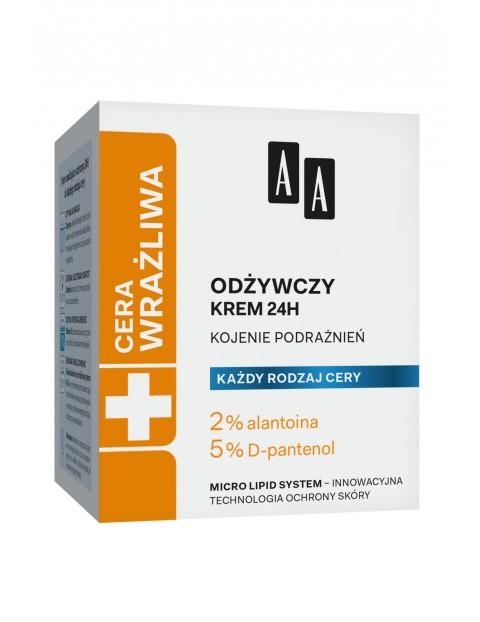 AA Cera Wrażliwa krem odżywczy do każdego rodzaju cery 24h - bezzapachowy 50 ml