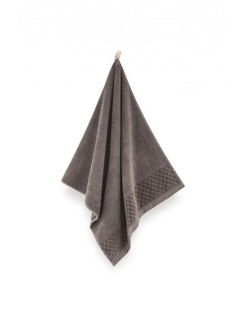 Ręcznik antybakteryjny Carlo z bawełny egipskiej brązowy- 70x140 cm