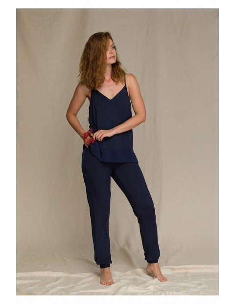 Elegancka piżama damska granatowa