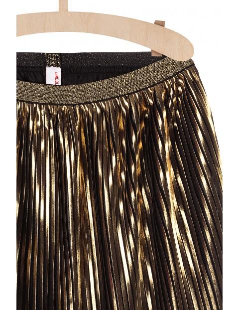Spódnica dziewczęca plisowana- złota