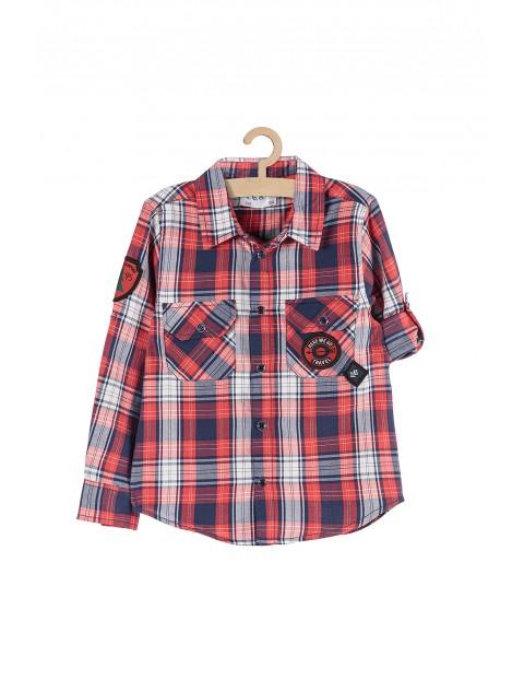 Koszula chłopięca bawełniana w kratkę
