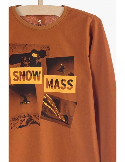 Bluzka chłopięca z długim rękawem- Snow Mass
