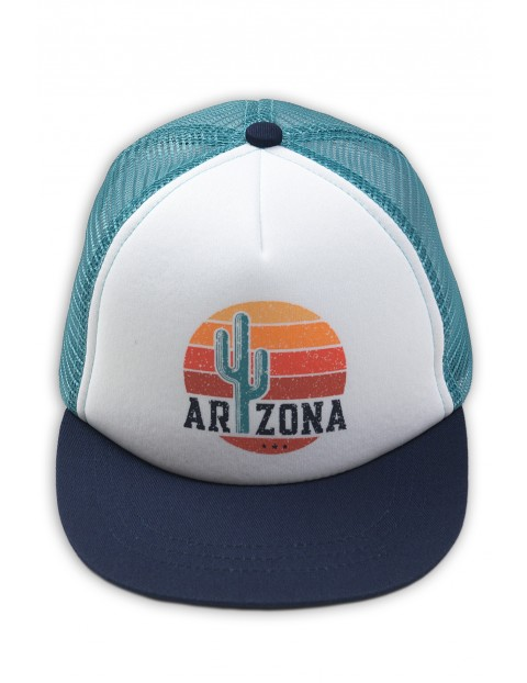Czapka z daszkiem Arizona- biało-niebieska