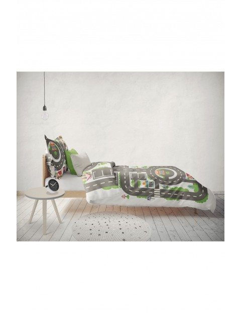 Pościel bawełniana dla dzieci Miasteczko- 140x200 cm