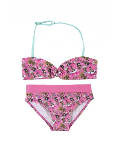 Strój kąpielowy dwuczęściowy LOL Surprise - różowy
