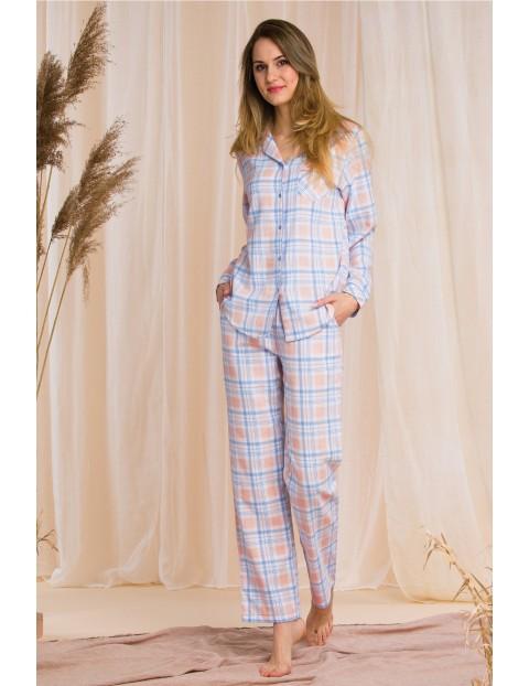 Piżama damska- pastelowa w kratę