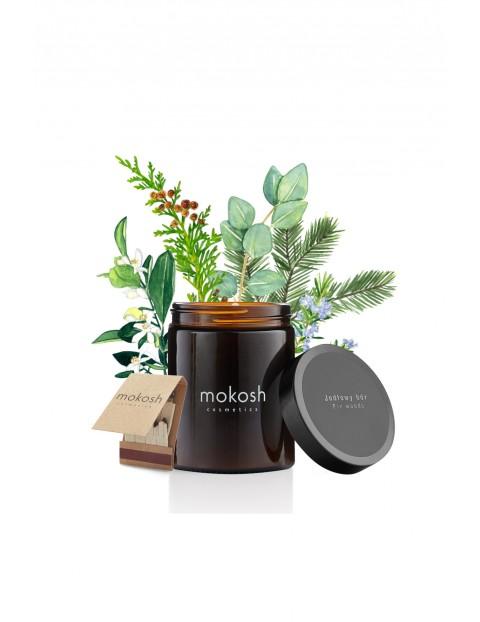 Roślinna świeca sojowa Jodłowy bór MOKOSH 140 g