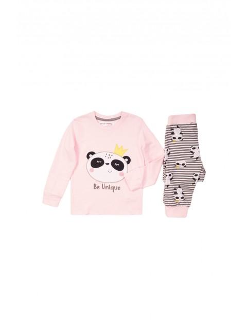 Pidżama dziewczęca różowa - Panda